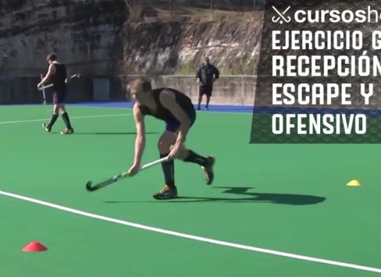 Ejercicio de Hockey Para Mejorar las Recepciones con Escape y el Pase Ofensivo