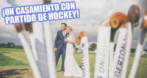 ¡Jugaron un partido de hockey en plena boda!