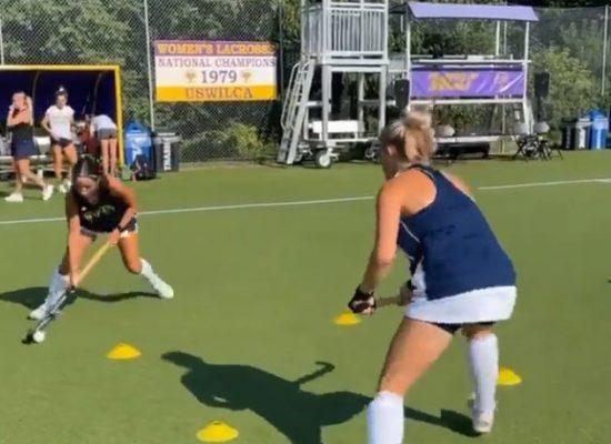 ¡Este ejercicio de hockey va a mejorar tus entradas en calor y hacerlas más intensas!